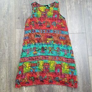 BILA Tribal Bold Sleeveless Dress - small